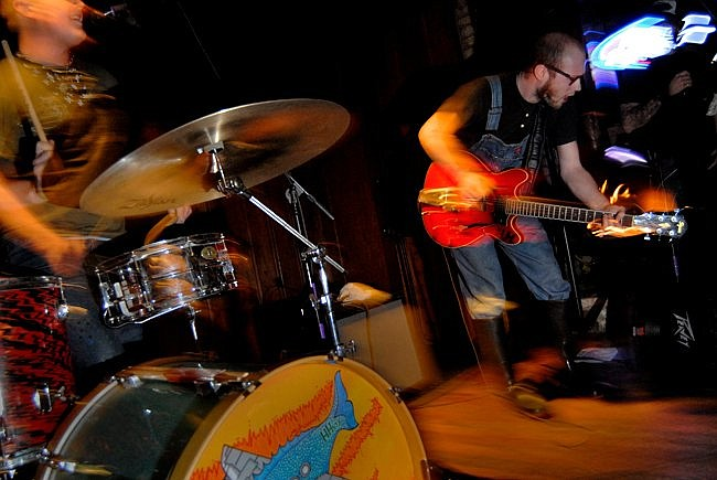 Country-punk duo the Hooten Hallers will take down the Shakedown on Wednesday.