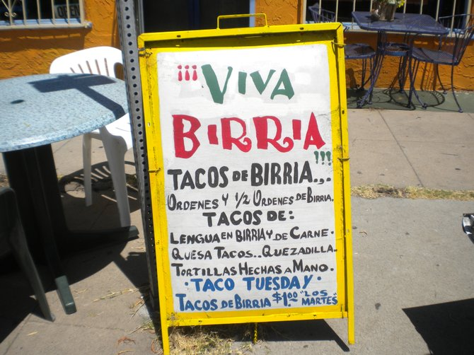 Birria: usually goat in Mexico, usually beef in the U.S.