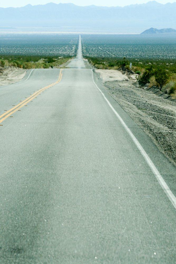 A neverending road.   (Mojave Desert)