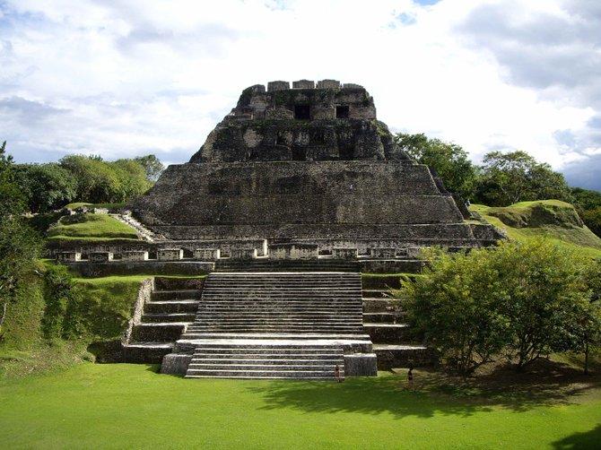 """""""El Castillo,"""" the main temple at Xunantunich"""