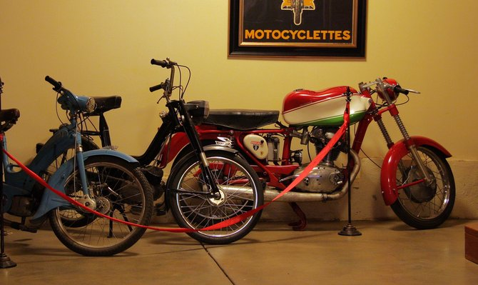At Doffo Winery in Temecula, you'll find a collection of vintage motorcycles, many of them ducatis.