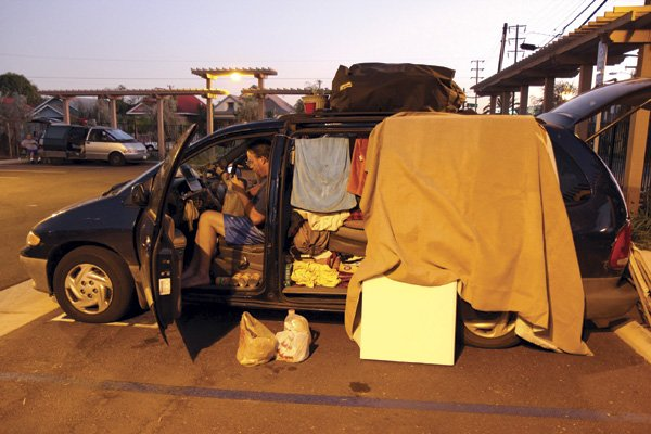 The gates open at 6 p.m. for an overnight stay at 28th and L Street in Grant Hill. The homeless have to be out by 6 a.m. (7 a.m. weekends).