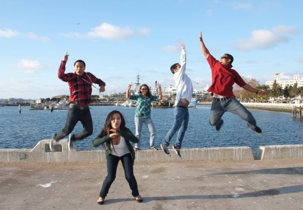 Seaport Village by the Pier. Having some fun with the Cousins.