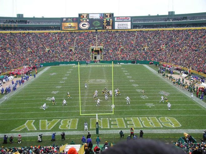 Green Bay Packers sell stock in the team in an effort to raise $130 million to trick out Lambeau Field.
