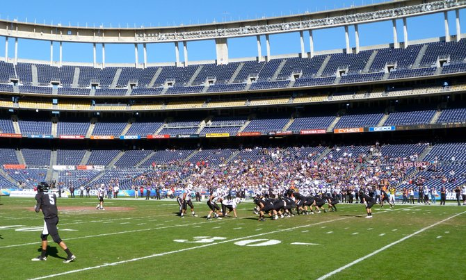 Valley Center and Santana met in the first of four games on Championship Monday at Qualcomm Stadium