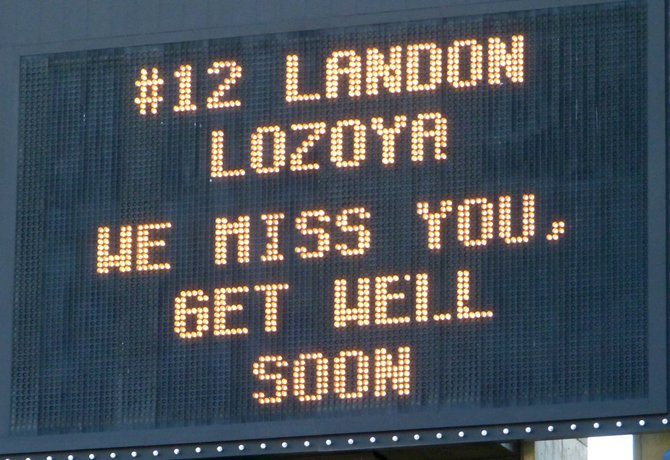 Santana delivered a message to injured star receiver Landon Lozoya via the Qualcomm Stadium scoreboard
