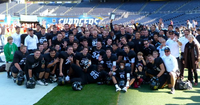Valley Center celebrates its first Division IV crown in three seasons