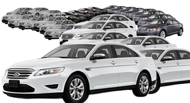 San Diego County is in the market for 26 new Ford Taurus four-wheel-drive sedans.