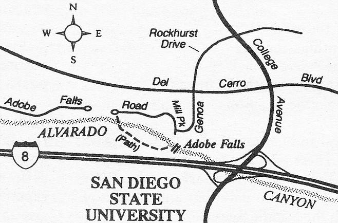Map to Adobe Creek Falls