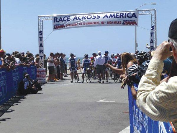 The start of the race in Oceanside