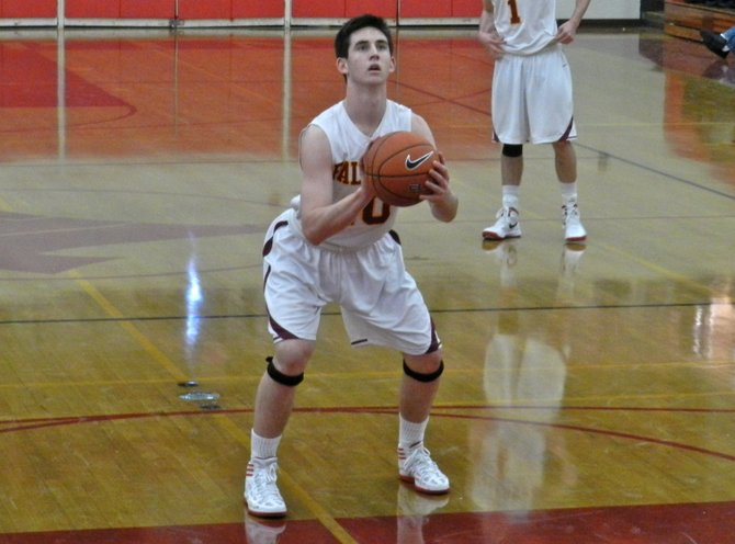 Torrey Pines guard Garrett Galvin at the free throw line