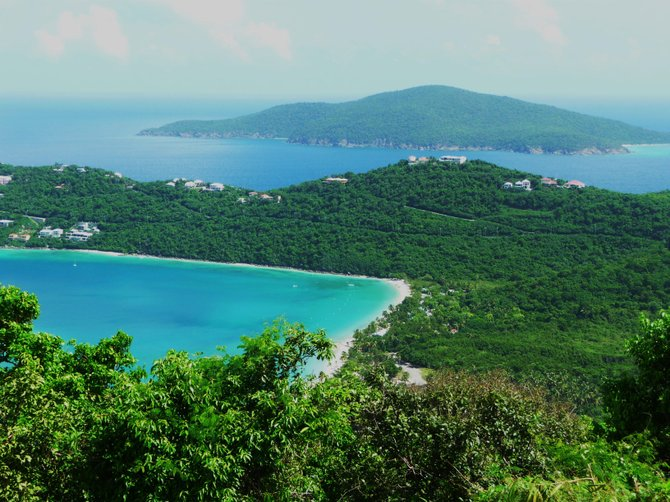 Looking down on Megan's Bay, St. Thomas