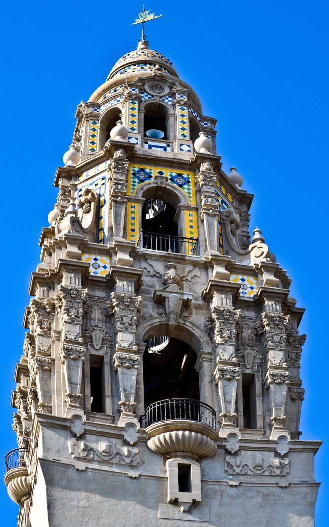A photo of ''the castle'' in Balboa Park, San Diego