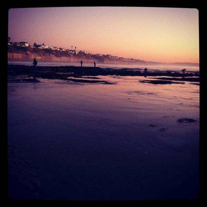 Low tide in San Diego