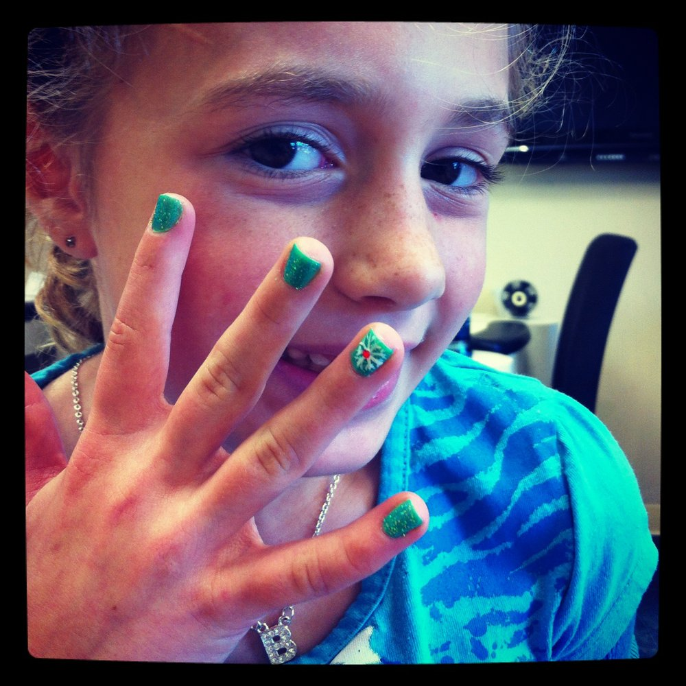 Bella's finished nails
