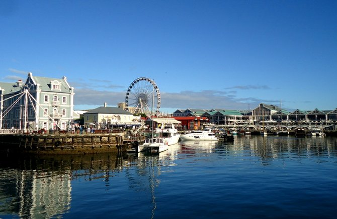 View of Cape Town's waterfront in South Africa, taken in the Spring of 2011.