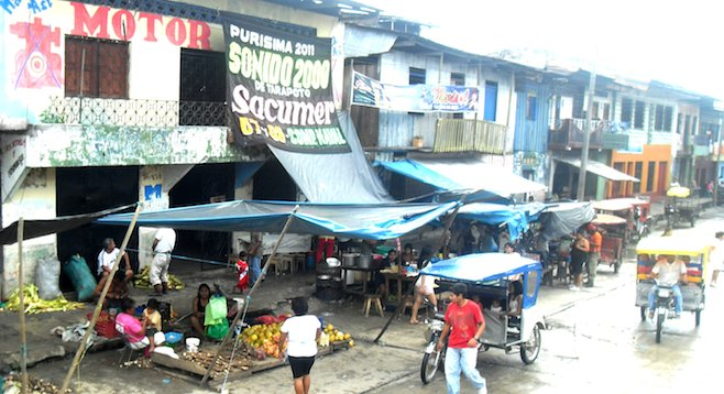 Belén market in Iquitos, a gateway to the Amazon