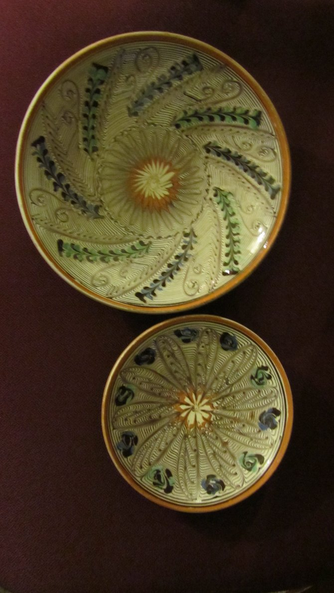 Hand Painted Plates From Horezu, Romania