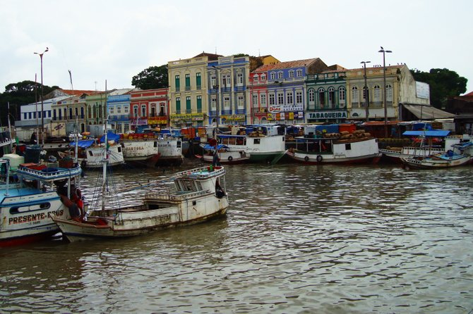 Belem, Brazil.  A colorful old waterfront at the mouth of the Amazon river.