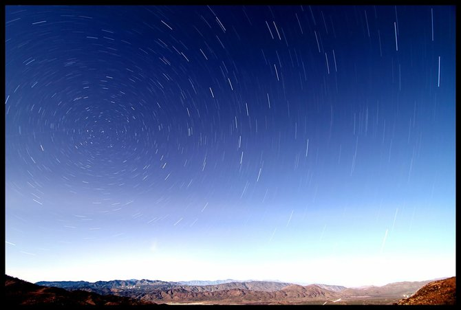 Star Trails over the Anza Borrego Desert.