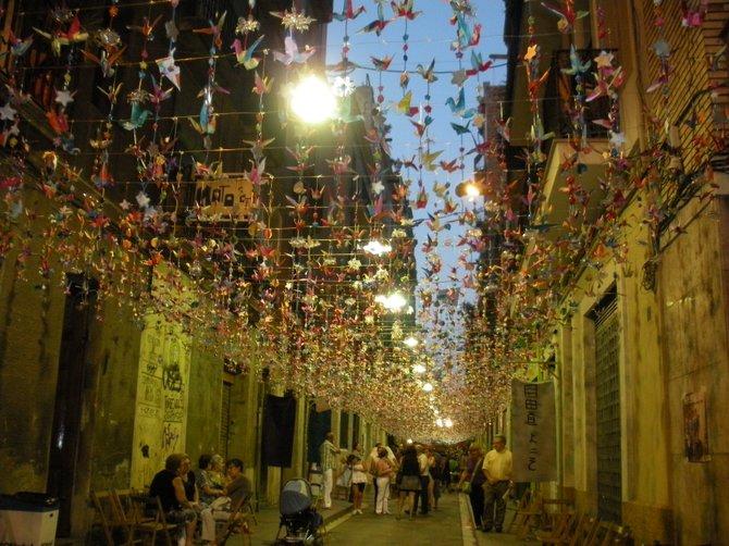 Barcelona neighborhood festival.