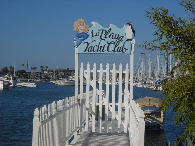Boat dock near Southwestern Yacht Club in La Playa.
