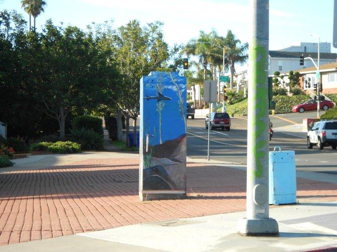 Seascape utility box near Chatsworth and Catalina Ave.