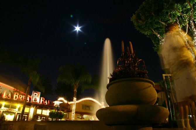 fountain at Disneyland