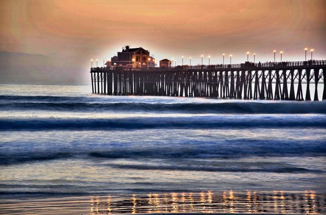 a HDR of Oceanside pier