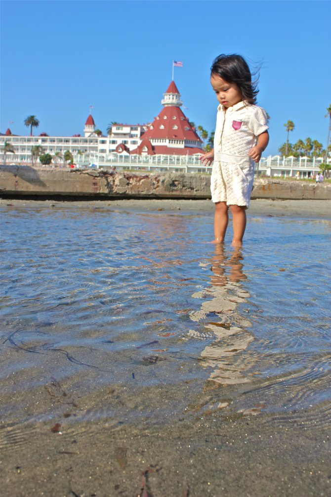2 yr old Gabby at Coronado Beach CA.