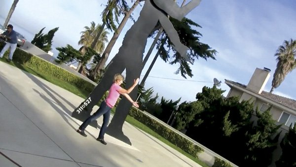 The Hammering Man sculpture in La Jolla. Jim liked to 