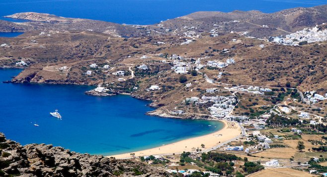 Ios, Greece - overlooking the stunning Mediterranean