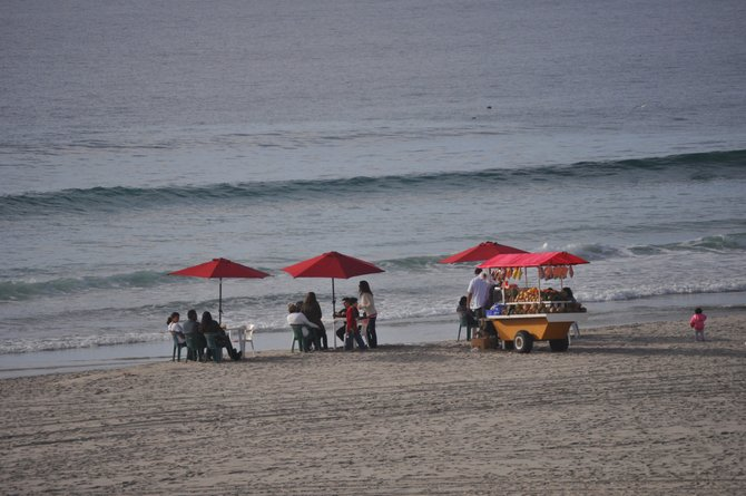 Lunch on the Beach Rosarito Beach Hotel