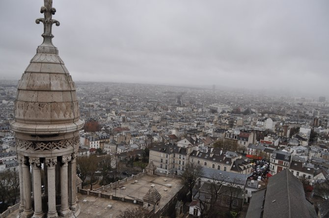 Overlooking Paris, France, from Montmartre.