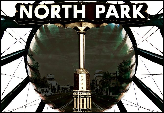 Having a little fun on Photoshop with 2 of North Park's most recognizable landmarks. North Park