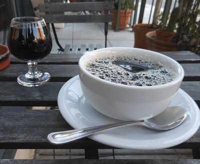 Coffee and port.