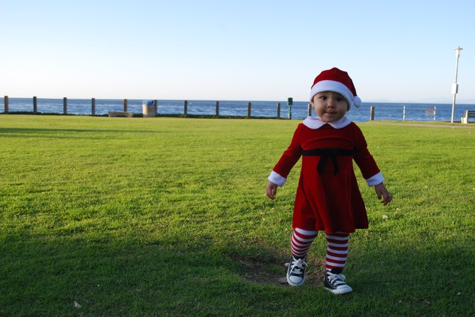 still in the holiday spirit. my daughter, bella. this was taken at the la jolla shore's