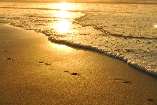 Footprints in the Sand at O.B.