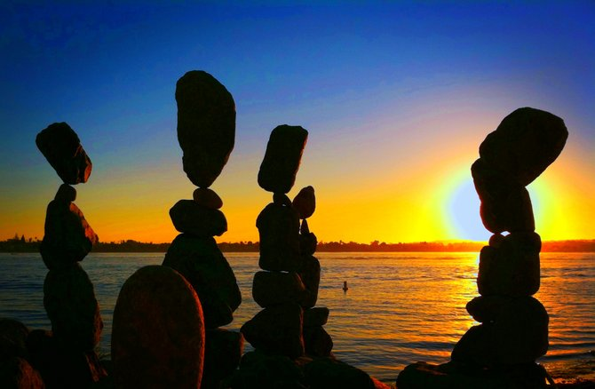 Balancing Rocks at Seaport Village