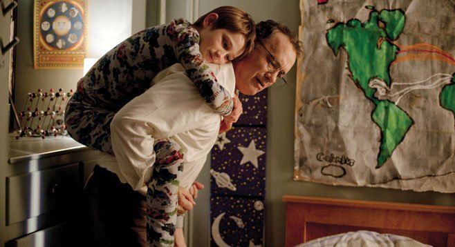 In Extremely Loud and Incredibly Close, dad (Tom Hanks) has a fatal appointment at the World Trade Center.