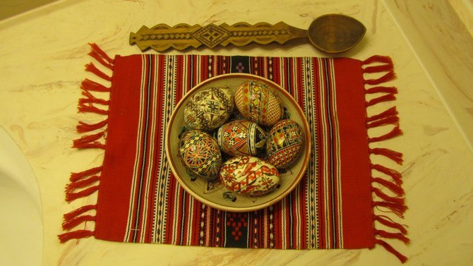 The Beauty of The Romanian Soul Is Reflected In Their Folk Art...Hand-Painted Romanian Easter Eggs, Souvenir From the Countyside