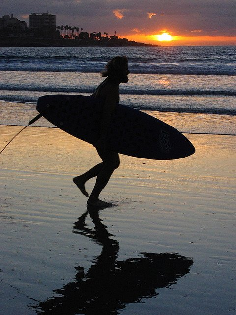La Jolla Shores Sunset Surfer