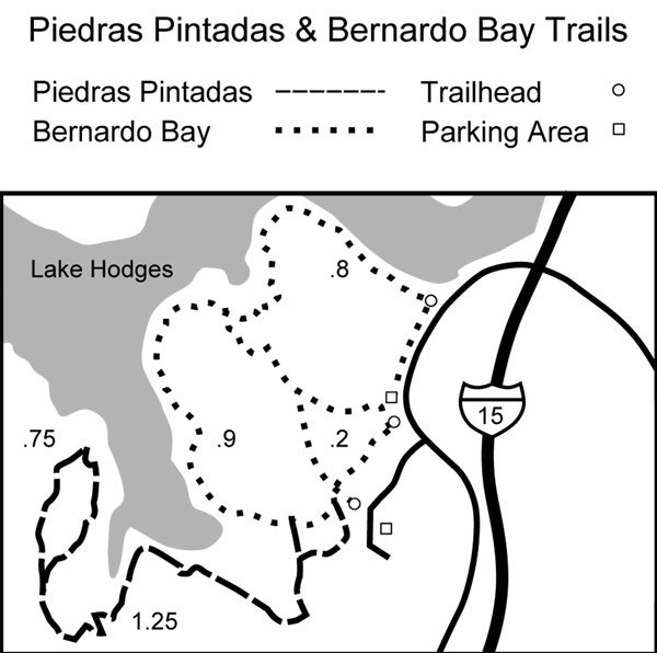 Map to Piedras Pintadas Trail