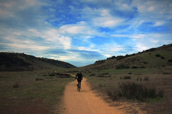 Biking from Canyonside park to the waterfalls in Rancho Penasquitos