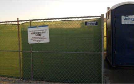 Construction Fencing Recently Erected At Site Of Demolished Bathrooms Neighborhood News Ocean Beach