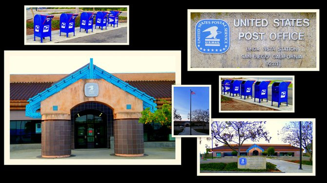 In the more than two centuries since Benjamin Franklin was appointed our first Postmaster General in 1775, the Postal Service™ has grown and changed with America, boldly embracing new technologies to better serve a growing  population. Linda Vista Post Office Address: 2150 COMSTOCK ST City/State: SAN DIEGO, CA Zip Code: 92111 Phone Number: (858) 277-0851 Description: LINDA VISTA Lobby Hours: Mon: 630-1800 Tue: 630-1800 Wed: 630-1800 Thu: 630-1800 Fri: 630-1800 Sat: 630-1500 Sun: - Hol: - Window Hours: Mon: 830-1800 Tue: 830-1800 Wed: 830-1800 Thu: 830-1800 Fri: 830-1800 Sat: 900-1400 Sun: - Hol: - Last Collection: Mon: 1700 Tue: 1700 Wed: 1700 Thu: 1700 Fri: 1700 Sat: 1700 Sun: Hol: