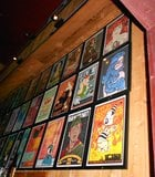 Colorful wall at Belly-Up Tavern.