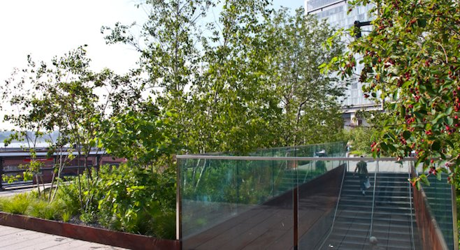 Entrance to New York City's High Line