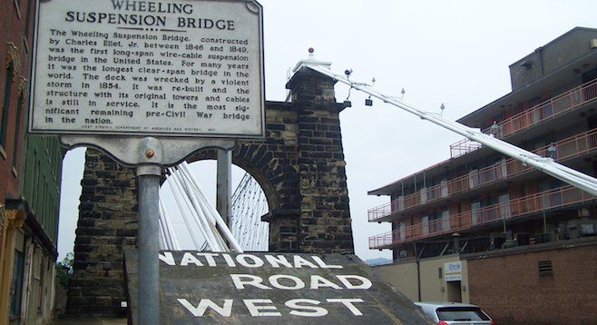 Wheeling, West Virginia - the sign says it all