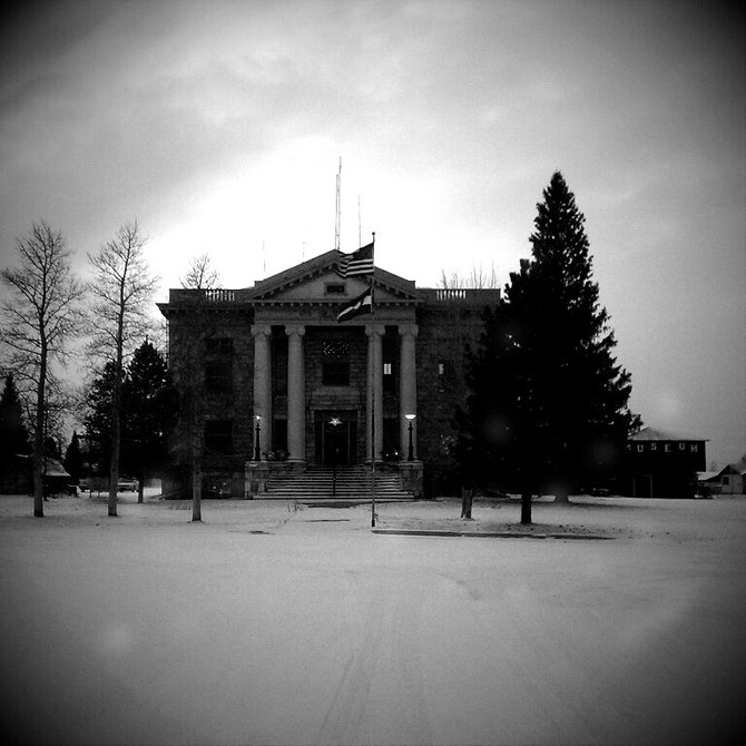 Walden,CO 1-3-2012. It was starting to snow and the town was empty except for me and a sheriff's deputy who probably thought I was crazy. Taken with my Droid EVO/Fudgecan filter/